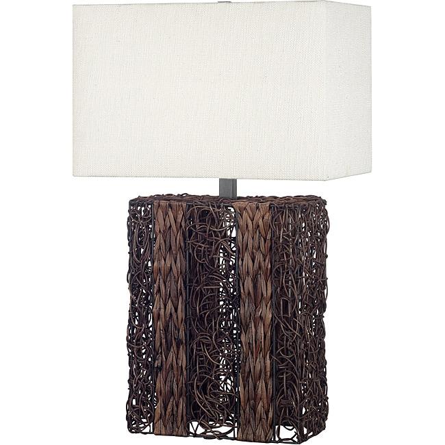 Harris 29-inch Dark Wicker Finish Table Lamp