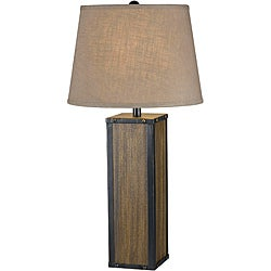 Downing 28-inch Wood Grain Finish Table Lamp