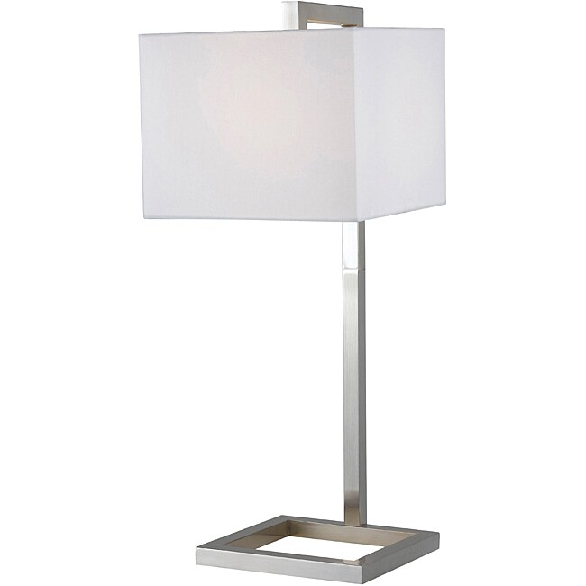 Ronson 30-inch Brushed Steel Table Lamp