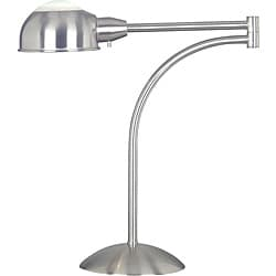 Routt 20-inch Brushed Steel Swing Arm Table Lamp