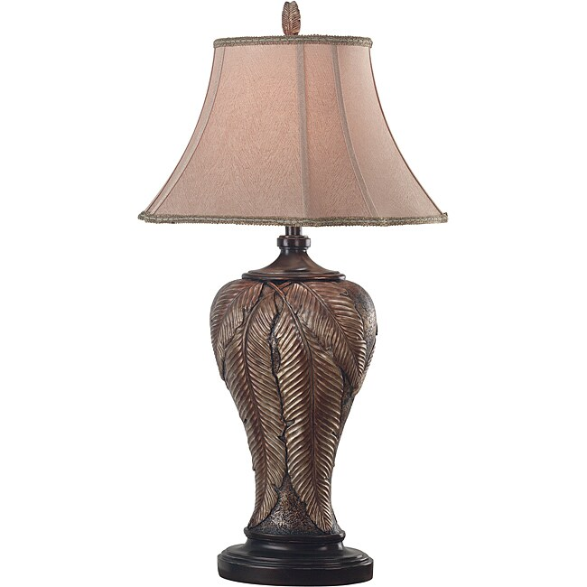 Holt 35-inch Leafed Bronze Finish Table Lamp
