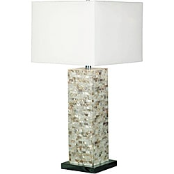 Marino 30-inch Mother of Pearl Finish Table Lamp