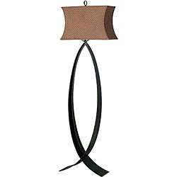 Trower 60-inch Oxidized Bronze Finish Floor Lamp