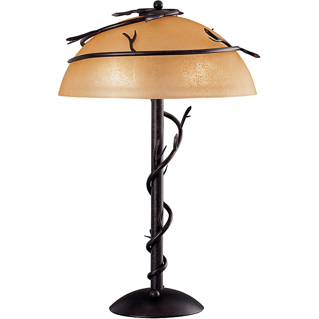 Long Branch 25-inch Bronze Table Lamp