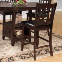 TRIBECCA HOME Banbury Warm Cherry Mission 5-piece Counter Height Set