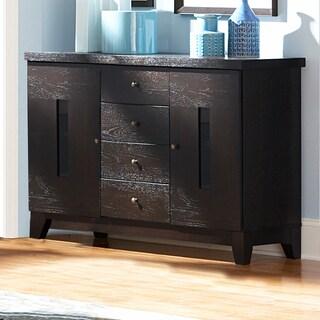 TRIBECCA HOME Dartford Dark Espresso 4-drawer Modern Storage Server