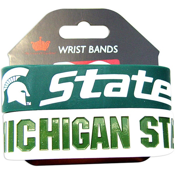Aminco Michigan State Spartans Rubber Wristbands (Set of 2) 8954770