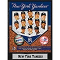 New York Yankees 2012 Baseball Memorabilia Stat Photo Plaque