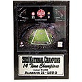 National Champion 2011 University of Alabama Louisiana Superdome Stat Plaque