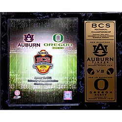 BCS 2011 National Championship Stat Plaque