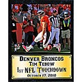 Denver Broncos Tim Tebow 'First NFL Touchdown' Stat Plaque