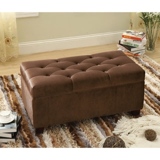 Furniture of America Bella Button Tuft Storage Bench