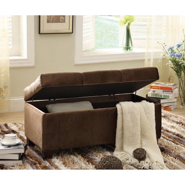 Furniture of America Bella Button Tuft Storage Bench