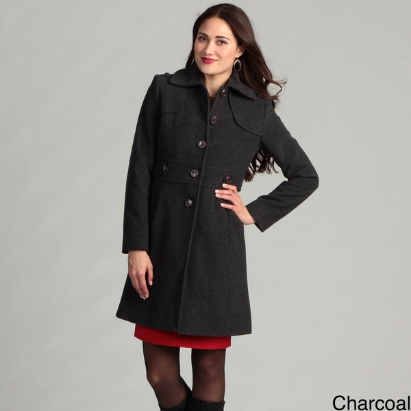 Kenneth Cole New York Women's Single Breasted Side Tab Coat