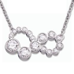18k White Gold 1ct TDW Diamond Infinity Necklace (H-I, SI1-SI2)