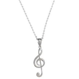 La Preciosa Sterling Silver Musical Note Necklace