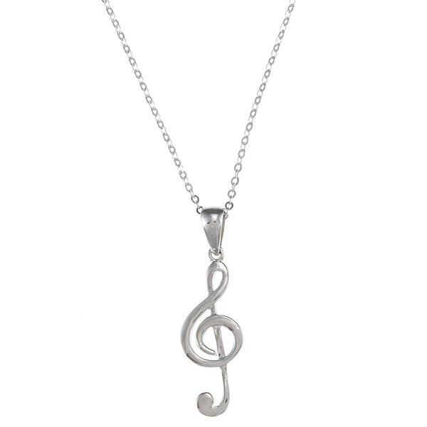 La Preciosa Sterling Silver Musical Note Necklace