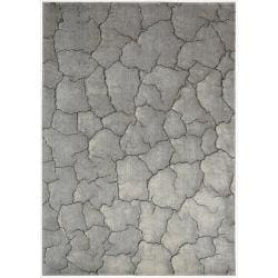 Nourison Utopia Interior Grey Abstract Rug (7'9 x 10'10)