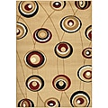 Virginia Beige Contempo Area Rug (7'9 x 11')