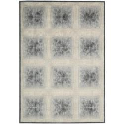 Nourison Utopia Ivory Square Abstract Rug (7'9 x 10'10)
