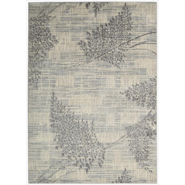 "Nourison Utopia Ivory Abstract Area Rug (5'3"" x 7'5"")"