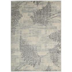 Nourison Utopia Ivory Abstract Area Rug (5'3
