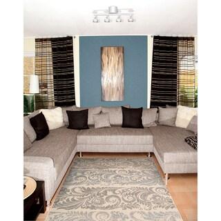 Nourison Utopia Ivory Abstract Rug (5'3 x 7'5)