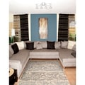 Nourison Utopia Ivory Abstract Rug (5'3 x 7'5)