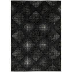 Nourison Utopia Black Abstract Rug (5'3 x 7'5)
