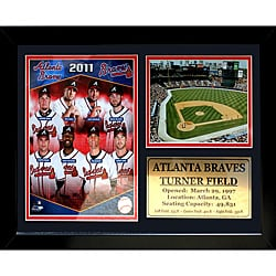 Atlanta Braves 2011 Photo / Field Stat Frame