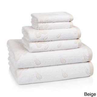 Roman Medallion Collection Turkish Cotton 6-piece Towel Set