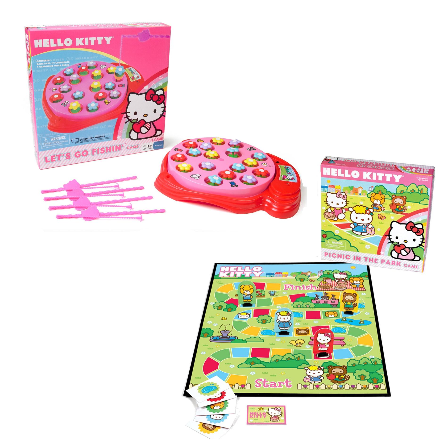 Pressman Games Hello Kitty Fish and Picnic Game Set