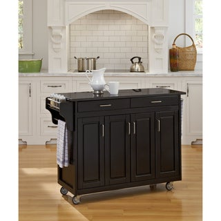 Home Styles 'Create-a-Cart' Black Finish Black Granite Top Cart