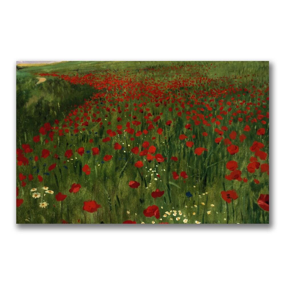 Pal Szinyei Merse 'The Poppy Feild, 1896' Canvas Art