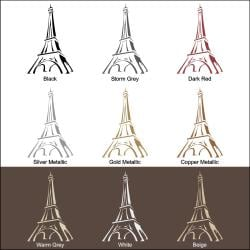 Vinyl Letter Decor 'Eiffel Tower' 48-inch Vinyl Wall Decal