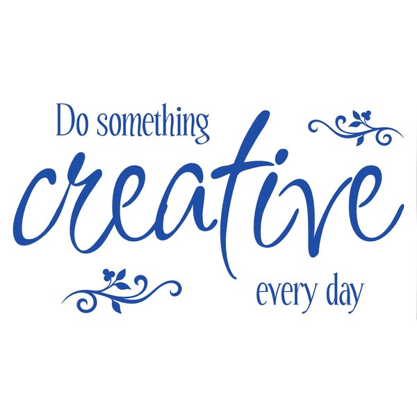 Vinyl Letter Decor 'Do Something Creative Every day' 10-inch Vinyl Wall Decal