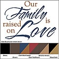 Vinyl Letter Decor 8-inch 'Our Family is Raised on Love' Vinyl Wall Decal
