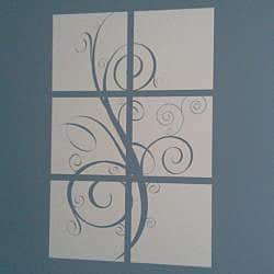 Vinyl Letter Decor 6-panel Tree Branch Vinyl Wall Decal