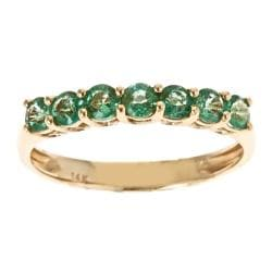D'Yach 14k Yellow Gold Zambian Emerald Ring
