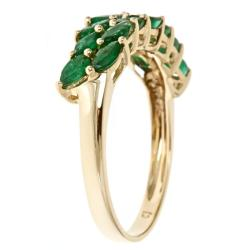 D'Yach 10k Yellow Gold Zambian Emerald Ring