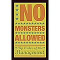 John W. Golden 'No Monsters Allowed' Framed Print