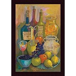 Karel Burrows 'Mediterranean Kitchen IV' Framed Print