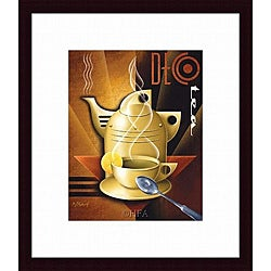 Michael L. Kungl 'Deco Tea' Framed Print
