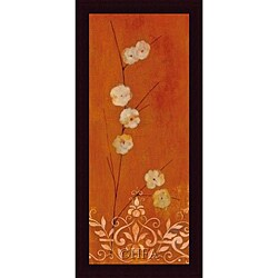Fernando Leal 'Sienna Flowers I' Framed Print