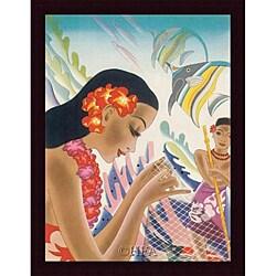 Frank MacIntosh 'Vintage Hawaii I' Framed Print