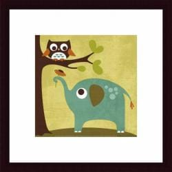 Nancy Lee 'Owl and Elephant' Framed Print