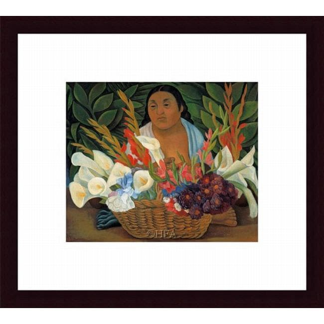 Diego Rivera 'Flower Seller' Framed Print