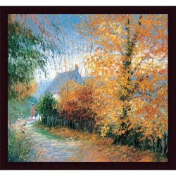 Jeanette Leuers 'Autumn at Pen-Y-Bont-Fawr' Framed Print Art
