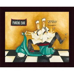 Jennifer Garant 'Martini Bar' Framed Print Art