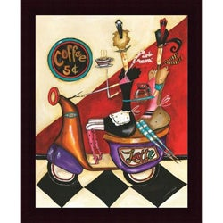 Jennifer Garant 'Coffee 5 Cents' Framed Print Art